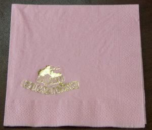 Serwetka papierowa różowa z nadrukiem logo