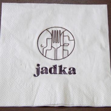 Serwetka papierowa biała z nadrukiem logo