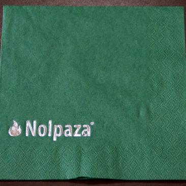 Serwetka papierowa zielona z nadrukiem logo